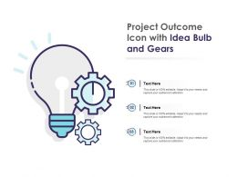 Project Outcome Icon With Idea Bulb And Gears