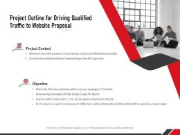 Project Outline For Driving Qualified Traffic To Website Proposal Ppt Powerpoint Presentation