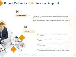 Project Outline For SEO Services Proposal Ppt Powerpoint Presentation Professional