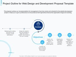 Project Outline For Web Design And Development Proposal Template Ppt Powerpoint Presentation Tips