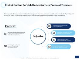 Project Outline For Web Design Services Proposal Template Ppt Powerpoint Outline