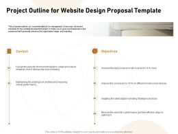 Project Outline For Website Design Proposal Template Ppt Powerpoint Model