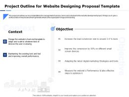 Project Outline For Website Designing Proposal Template Ppt Powerpoint Summary