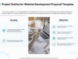 Project Outline For Website Development Proposal Template Ppt Powerpoint Presentation