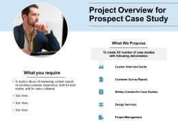 Project Overview For Prospect Case Study Project Management Ppt Slides