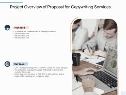 Project Overview Of Proposal For Copywriting Services Ppt Powerpoint Example