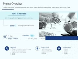 Project Overview Ppt Powerpoint Presentation Ideas Visuals