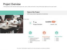 Project Overview Project Management Team Building Ppt Rules
