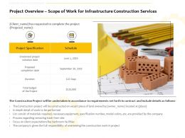 Project Overview Scope Of Work For Infrastructure Construction Services Ppt Slides