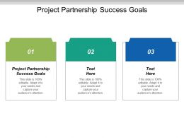 Project Partnership Success Goals Ppt Powerpoint Presentation Infographics Visuals Cpb
