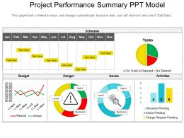 Project Performance Summary Ppt Model