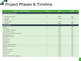 Project Phases And Timeline Ppt File Picture