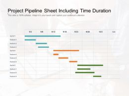 Project Pipeline Sheet Including Time Duration