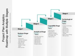 Project Plan Analytics Roadmap With Multiple Stages