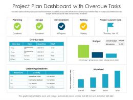 Project Plan Dashboard With Overdue Tasks