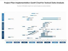Project Plan Implementation Gantt Chart For Textual Data Analysis