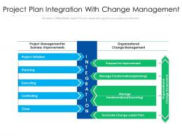 Project Plan Integration With Change Management