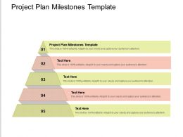 Project Plan Milestones Template Ppt Powerpoint Presentation Infographic Template Model Cpb