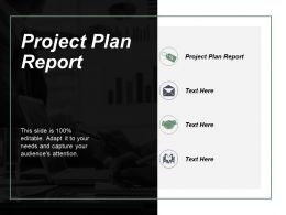 Project Plan Report Ppt Powerpoint Presentation File Layout Cpb