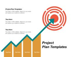 Project Plan Templates Ppt Powerpoint Presentation Gallery Layouts Cpb