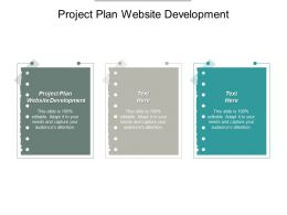 Project Plan Website Development Ppt Powerpoint Presentation Portfolio Guide Cpb