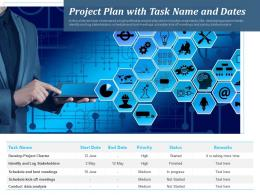 Project Plan With Task Name And Dates