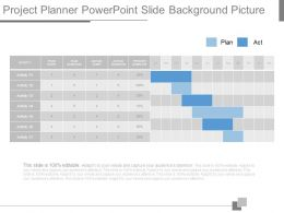 Project Planner Powerpoint Slide Background Picture