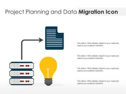 Project Planning And Data Migration Icon