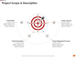 Project Planning And Governance Project Scope And Description Ppt Powerpoint Deck