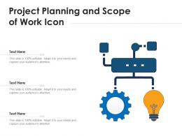 Project Planning And Scope Of Work Icon