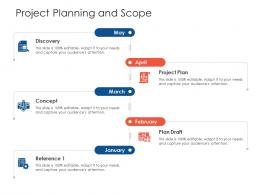 Project Planning And Scope Project Strategy Process Scope And Schedule Ppt File Portrait