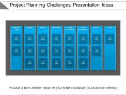 Project Planning Challenges Presentation Ideas
