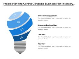 Project Planning Control Corporate Business Plan Inventory Costing