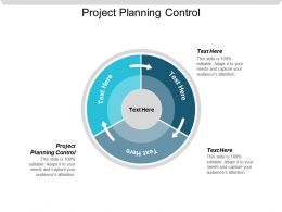 Project Planning Control Ppt Powerpoint Presentation Show Display Cpb