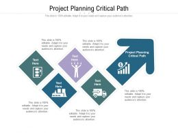 Project Planning Critical Path Ppt Powerpoint Presentation Model Microsoft Cpb