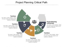 Project Planning Critical Path Ppt Powerpoint Presentation Portfolio Slideshow Cpb