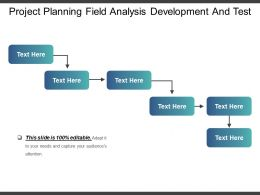 Project Planning Field Analysis Development And Test