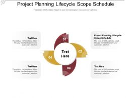 Project Planning Lifecycle Scope Schedule Ppt Powerpoint Presentation Slides Design Cpb