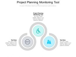 Project Planning Monitoring Tool Ppt Powerpoint Presentation Inspiration Slides Cpb