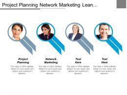 Project Planning Network Marketing Lean Manufacturing Six Sigma Cpb