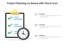 Project Planning On Board With Clock Icon