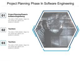 Project Planning Phase In Software Engineering Ppt Powerpoint Presentation Inspiration Cpb