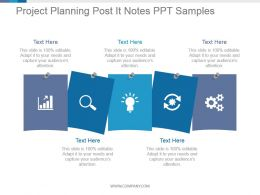 Project Planning Post It Notes Ppt Samples