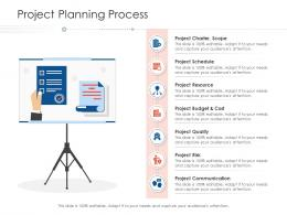 Project Planning Process Project Strategy Process Scope And Schedule Ppt Pictures