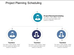 Project Planning Scheduling Ppt Powerpoint Presentation Infographics Icons Cpb