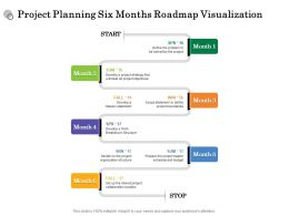 Project Planning Six Months Roadmap Visualization