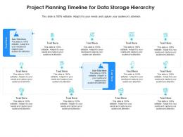 Project Planning Timeline For Data Storage Hierarchy Infographic Template
