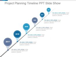 Project Planning Timeline Ppt Slide Show