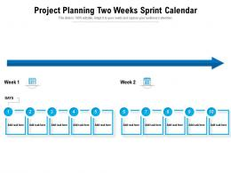 Project Planning Two Weeks Sprint Calendar