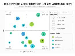 Project Portfolio Graph Report With Risk And Opportunity Score